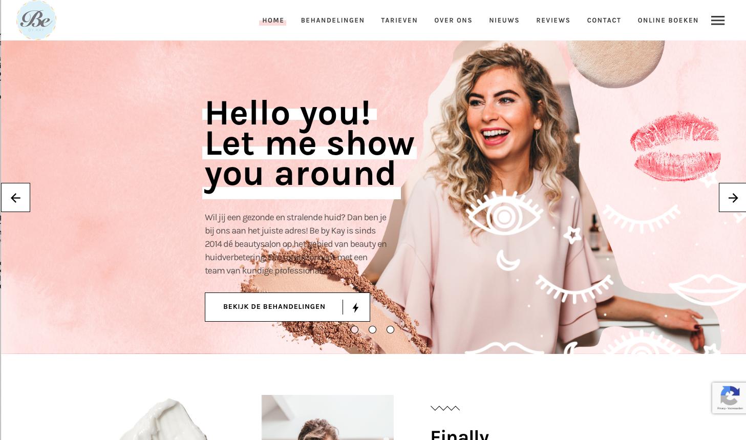 Website ontwerp Be by Kay Limburg schoonheidssalon